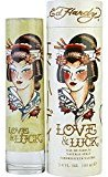 Ed Hardy LOVE & LUCK by Christian Audigier EAU DE PARFUM SPRAY 3.4 OZ for WOMEN ---(Package Of 5)