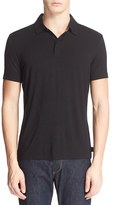 Armani Collezioni Men's Covered Placket Polo