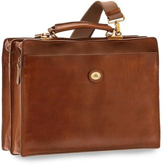 The Bridge Story Uomo Genuine Leather Double Comparment Briefcase