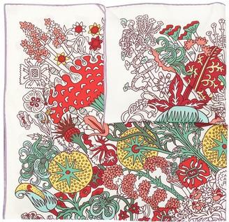 Hermes Floral Print Scarf