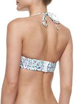 Shoshanna Occitan Ikat Twisted Bandeau Bikini Top