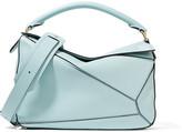 Loewe Puzzle Leather Shoulder Bag - Sky blue