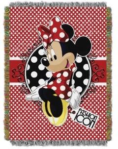 Disney Minnie Mouse Polka Dot Tapestry Throw