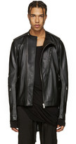 Rick Owens Black Leather Cyclop Biker Jacket