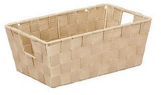 Simplify Small Woven Storage Shelf Bin in Ivory