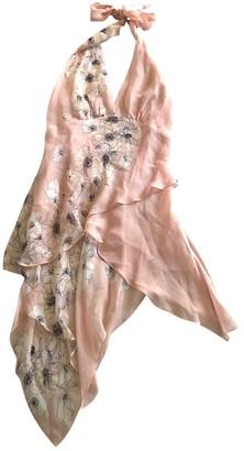 BCBGMAXAZRIA Pink Silk Top for Women
