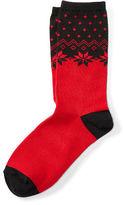 Ralph Lauren Snowflake Knit Trouser Socks