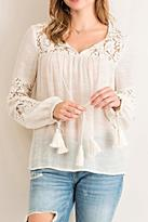 Entro Lace Peasant Top