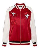 Hallhuber Embroidered satin bomber jacket