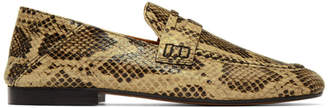 Isabel Marant Tan Snake Fezzy Loafers