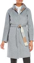 DKNY Grey Belted Coat