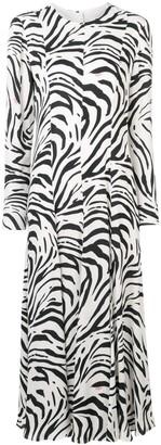 MSGM zebra print long dress