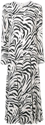 MSGM Zebra Print Long Dress