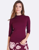 Forcast Lili Mock Neck Knitted Sweater