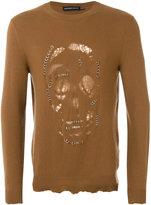 Alexander McQueen pierced skull jumper - men - Cashmere/Wool - S