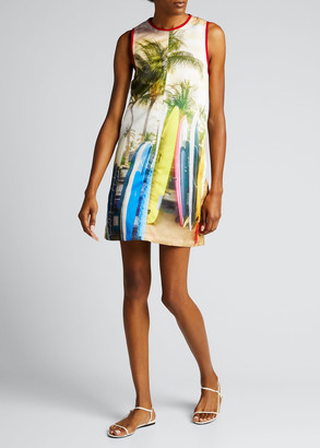 No.21 Surf-Print Shift Dress