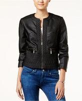 Joujou Jou Jou Embossed Faux-Leather Jacket