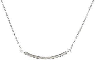 ADORNIA Sterling Silver Mercer Bar Diamond Necklace - 0.30 ctw