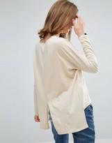 Asos Oversize Long Sleeved Split Back Top