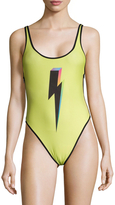 Wildfox Couture 80's Lightning One Piece Swimsuit