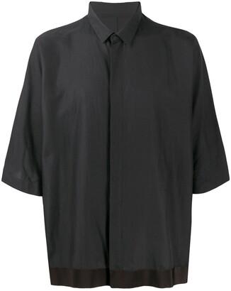 Haider Ackermann Concealed-Button Short-Sleeve Shirt