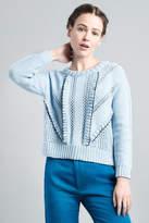 Smythe Handknit Ruffle Sweater