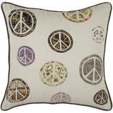 "18"" x 18"" Peace Pillow - Natural/Green"