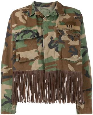 R 13 Abu fringed denim jacket
