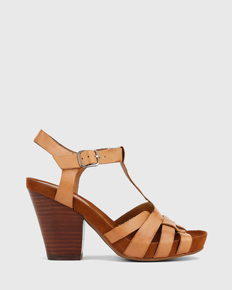 Wittner - Women's Brown Heeled Sandals - Carlino T-Bar Block Heels - Size One Size, 39 at The Iconic
