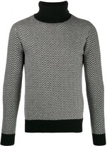 Majestic Filatures zig-zag turtle neck sweater