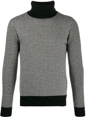 Majestic Filatures Zig-Zag Turtle Neck Sweater