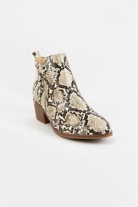 Mia Side Zip Snake Boot - Snake
