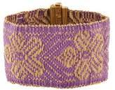 Carolina Bucci 18K Floral Woven Bracelet