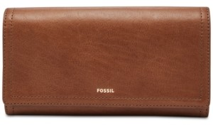 Fossil Women's Logan Leather Flap Wallet