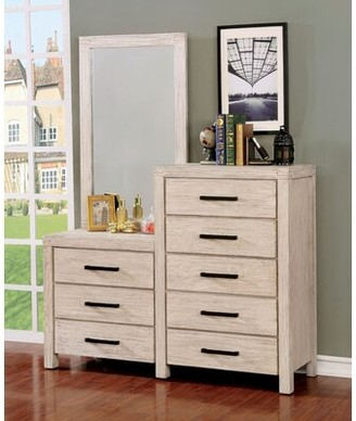 Gracie Oaks Mcmillion 8 Drawer Dresser with Mirror