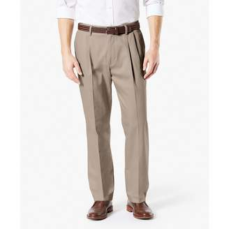Dockers Men's Classic Sign Khaki Lux Cotton Stretch - Pleated D3 Pants