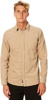 Rusty Toked Ls Mens Cord Shirt Brown