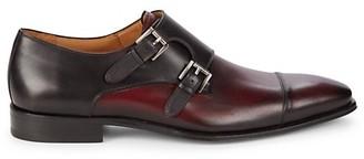 Mezlan Bardem Leather Double Monk-Strap Shoes