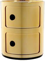 Kartell Componibili Metallic 2 Tier Unit - Gold