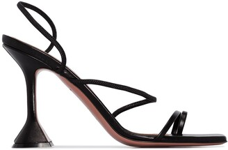 Amina Muaddi Naima 95mm leather sandals