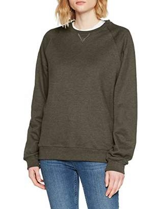 Trigema Womens Regular Fit Crew Neck Long Sleeve Sweatshirt - Black - UK