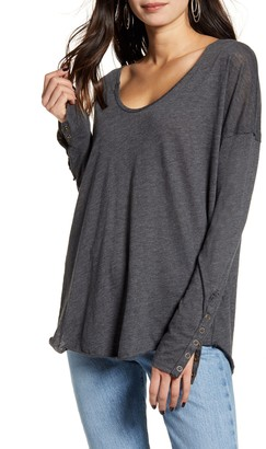 Free People Sienna Snap Cuff Cotton Blend Tee