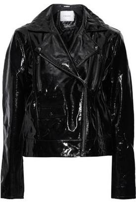 Frame Crinkled Patent-leather Biker Jacket