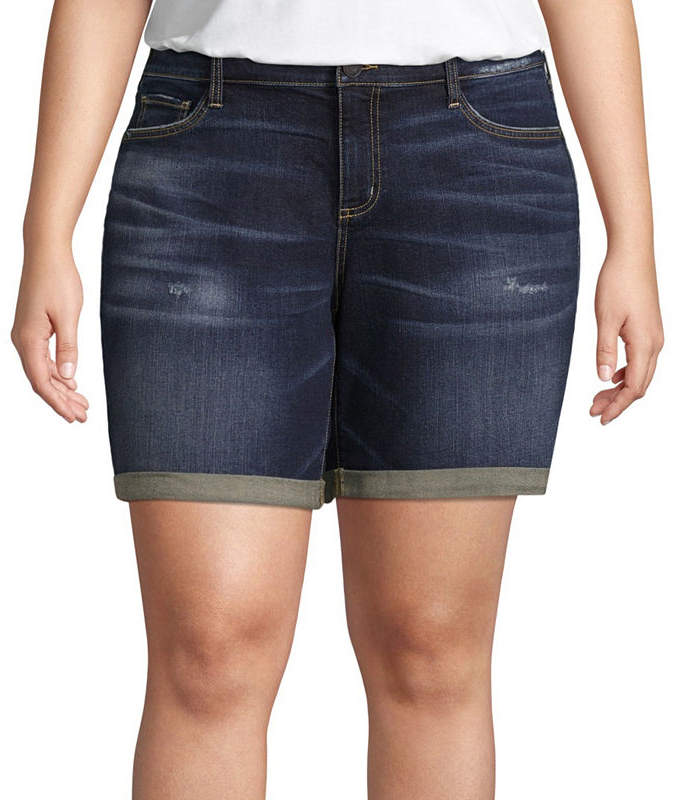 + + Denim Short 8 Roll Cuff - Plus