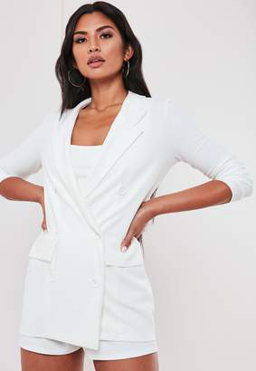 Missguided White Co Ord Double Breasted Blazer