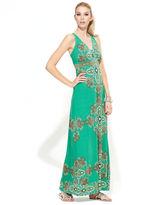 INC International Concepts Dress, Sleeveless Scarf-Print Maxi