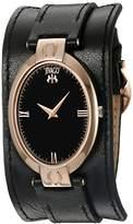Jivago Women's JV1831 Good luck Analog Display Swiss Quartz Black Watch