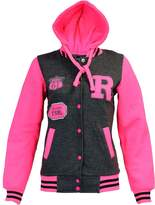 URBAN KIDS Aelstores. Kids Girls Boys Baseball R Fashion Hooded Jacket Varsity Hoodie 2-13