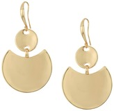 Robert Lee Morris Gold Disc Drop Earrings