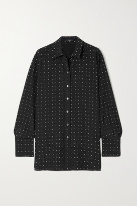 Joseph Brooks Polka-dot Silk Crepe De Chine Shirt - Black